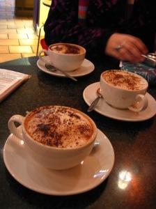 Three kinds of amazing hot chocolate at Bar Chocolat.