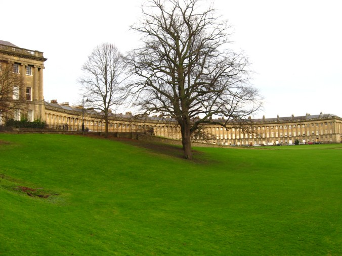 The Royal Crescent, home to famous Brits only other Brits have heard of.