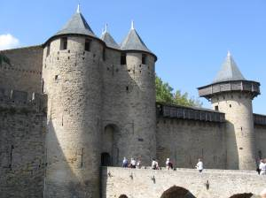 Carcassonne, a fortressed city that used to guard the border with Spain.